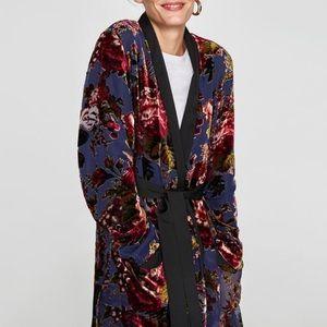 Zara Velvet Kimono